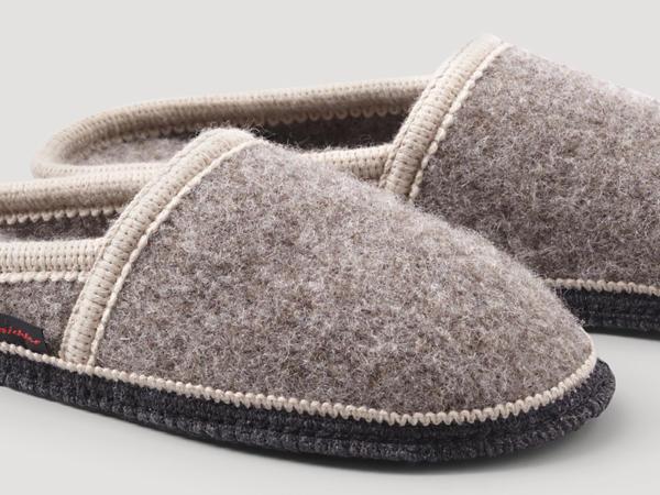 Unisex Pantoffeln aus reiner Rhönwolle