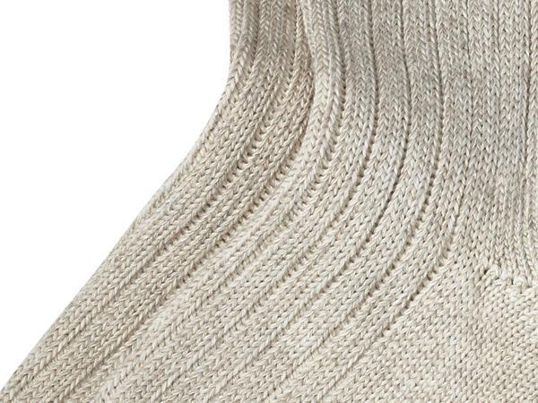 Unisex Trekkingsocke aus Bio-Baumwolle mit Leinen