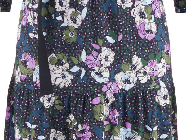 Volant-Kleid aus reiner Bio-Baumwolle
