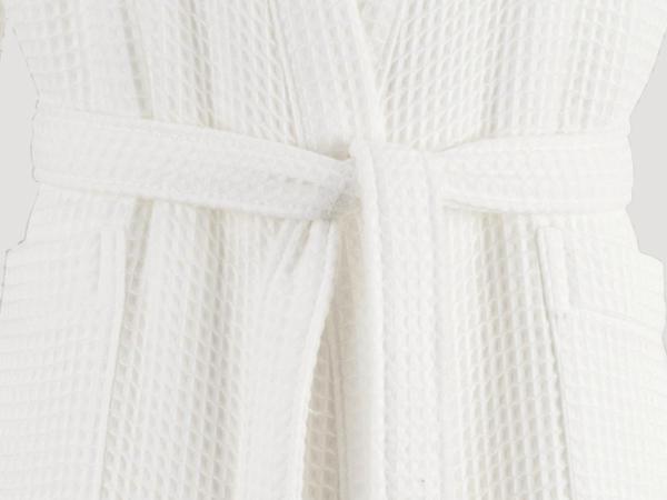 Waffelpiqué-Bademantel aus reiner Bio-Baumwolle