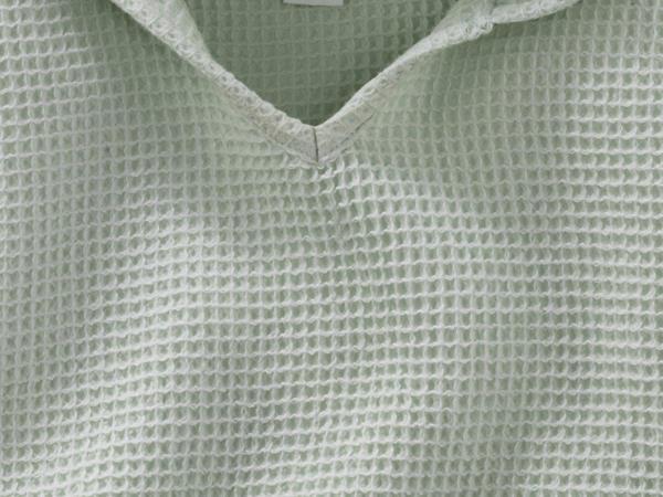 Waffelpiqué-Badeponcho aus reiner Bio-Baumwolle
