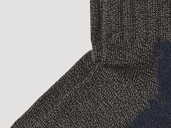 Wandersocke aus Bio-Baumwolle mit Bio-Schurwolle