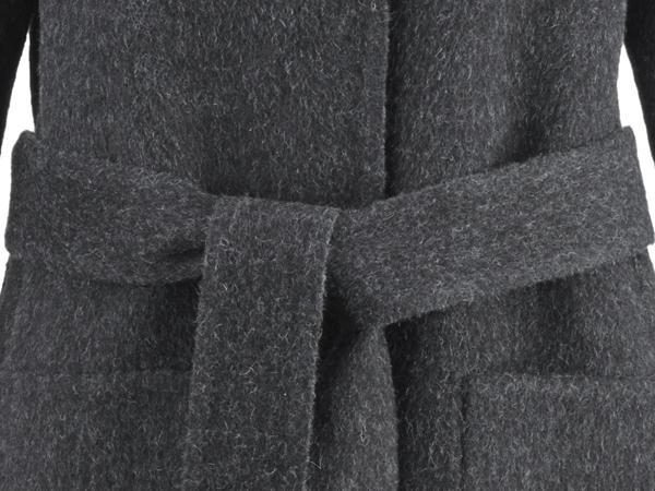 Wende-Mantel aus Alpaka mit Schurwolle