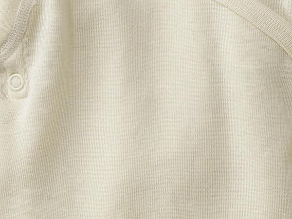 Wickelhemd aus Bio-Merinowolle und Seide