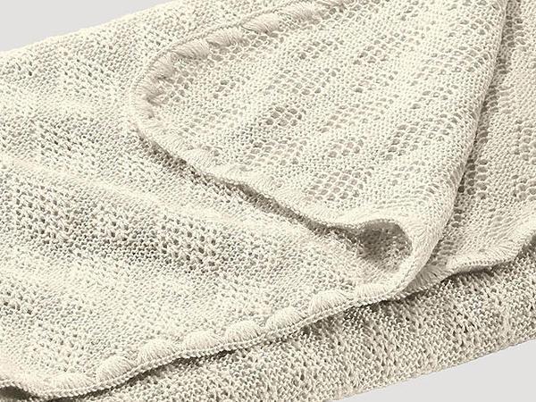 Wolldecke aus reiner Bio-Merinowolle