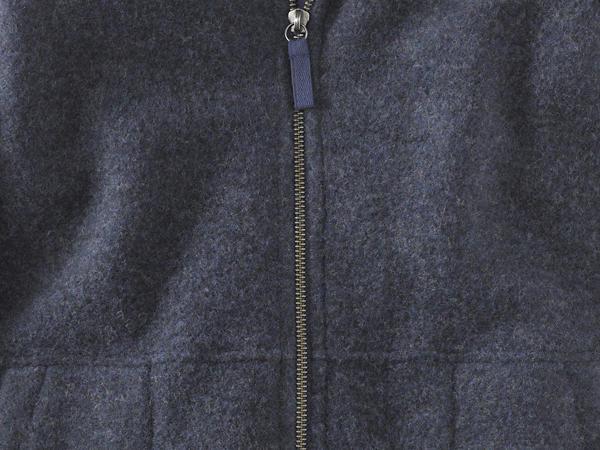 Wollfleece Mantel aus reiner Bio-Merinowolle