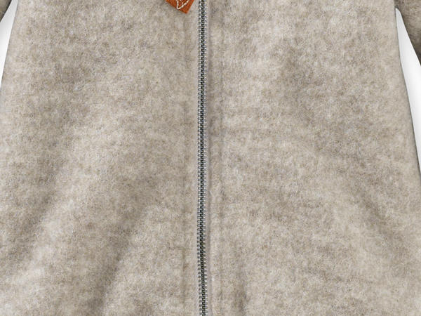 Wollfleece Overall aus reiner Schurwolle