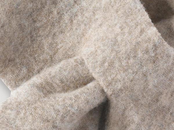 Wollfleece-Schal aus reiner Bio-Merinowolle