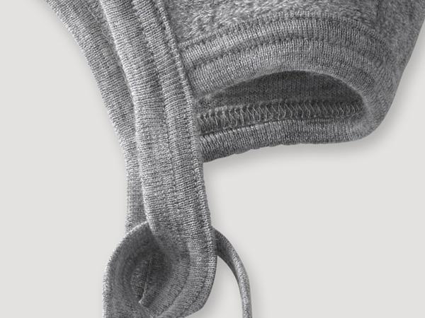 Wollfrottee Häubchen aus reiner Bio-Merinowolle