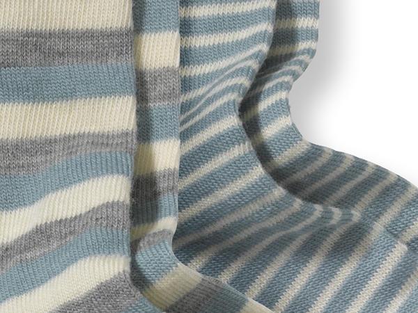 Wollsocke im 2er-Pack aus Schurwolle mit Baumwolle
