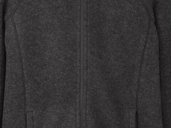 Wool fleece jacket made from organic merino wool