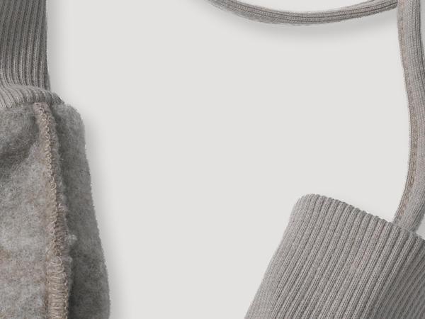 Wool fleece mittens made from pure organic merino wool