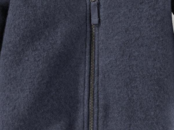 Wool fleece overall made from pure organic merino wool