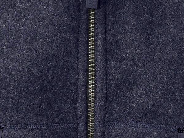 Wool fleece vest made from pure organic merino wool