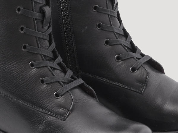 Worker style lace-up ankle boots