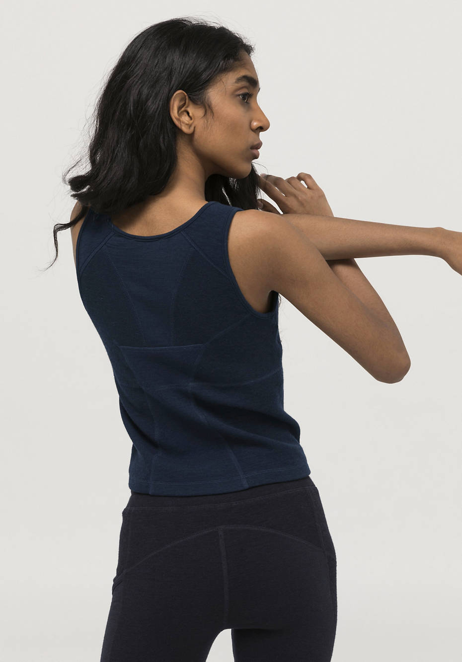 2-in-1 premium bustier top made of organic merino wool with organic cotton