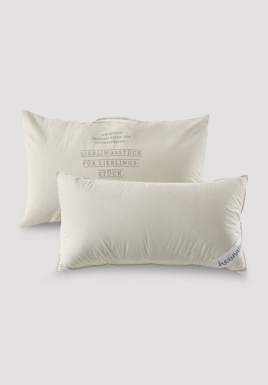3-chamber support pillow with down and feathers