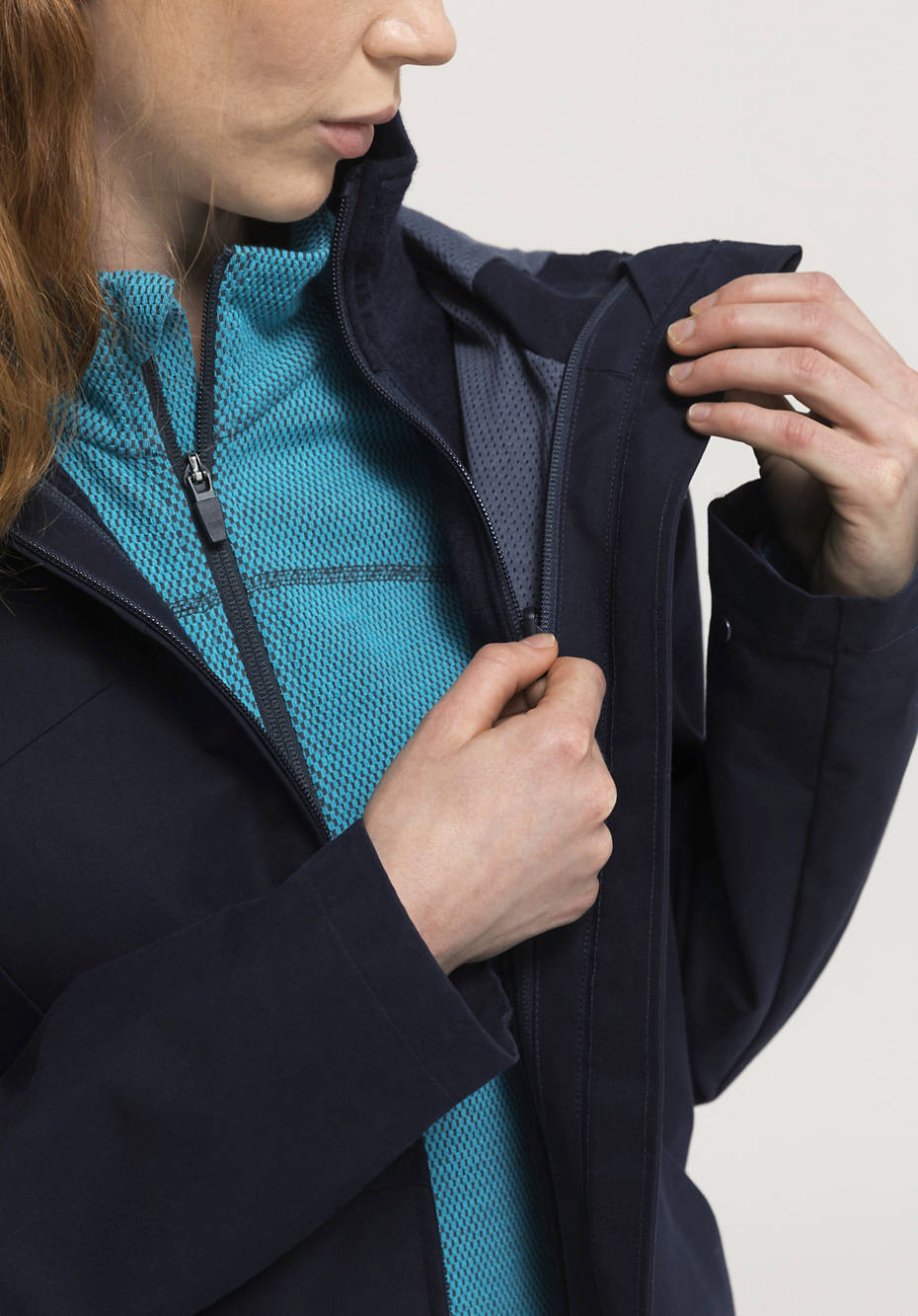 3-in-1 jacket Nature Shell made of organic cotton with organic merino wool