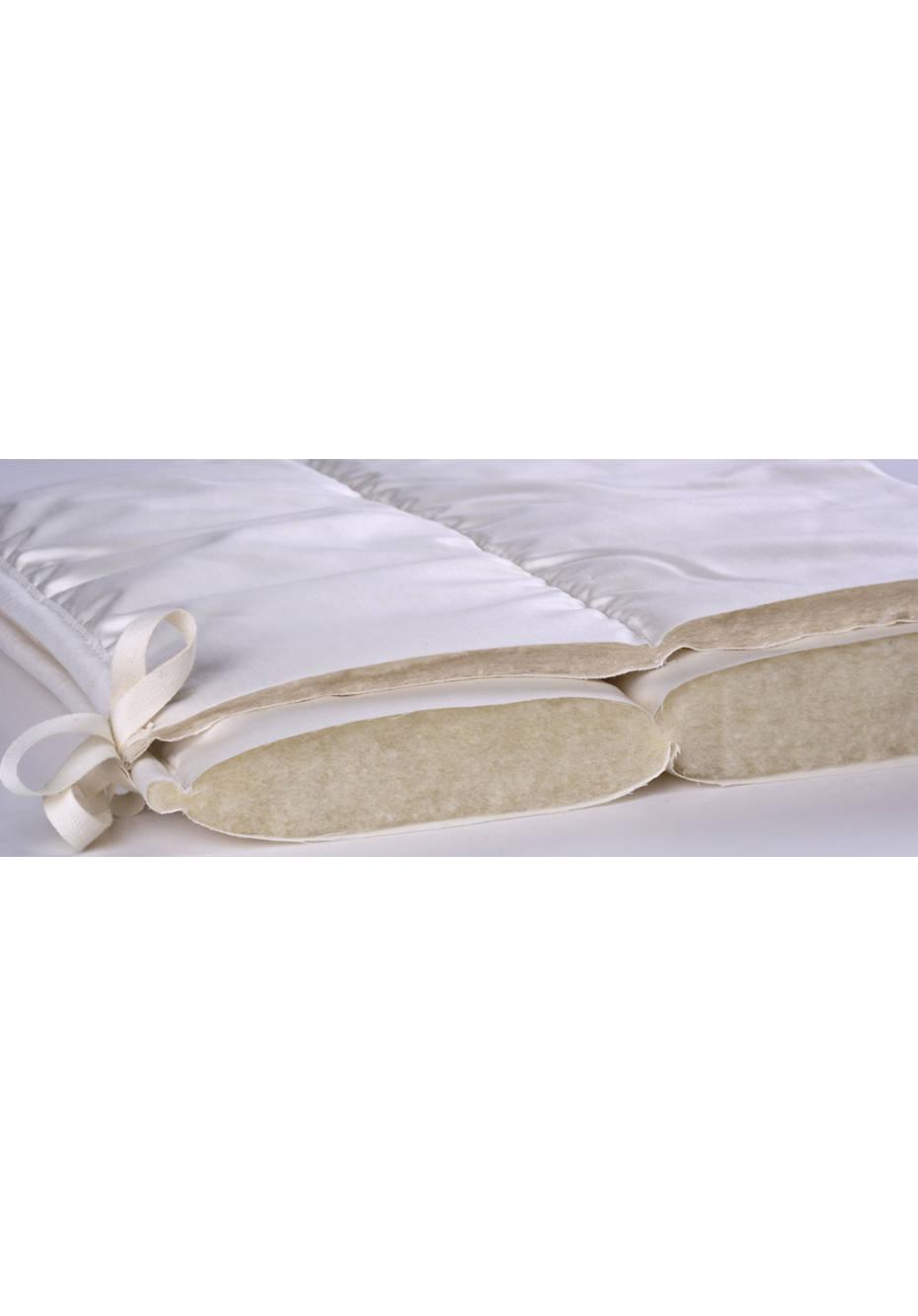 4-Jahreszeiten-Decke Tussah Seide und Bio-Schurwolle