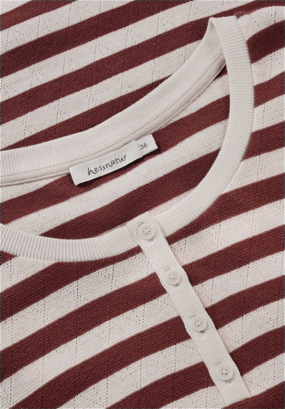 Ajour-Henleyshirt aus Bio-Baumwolle