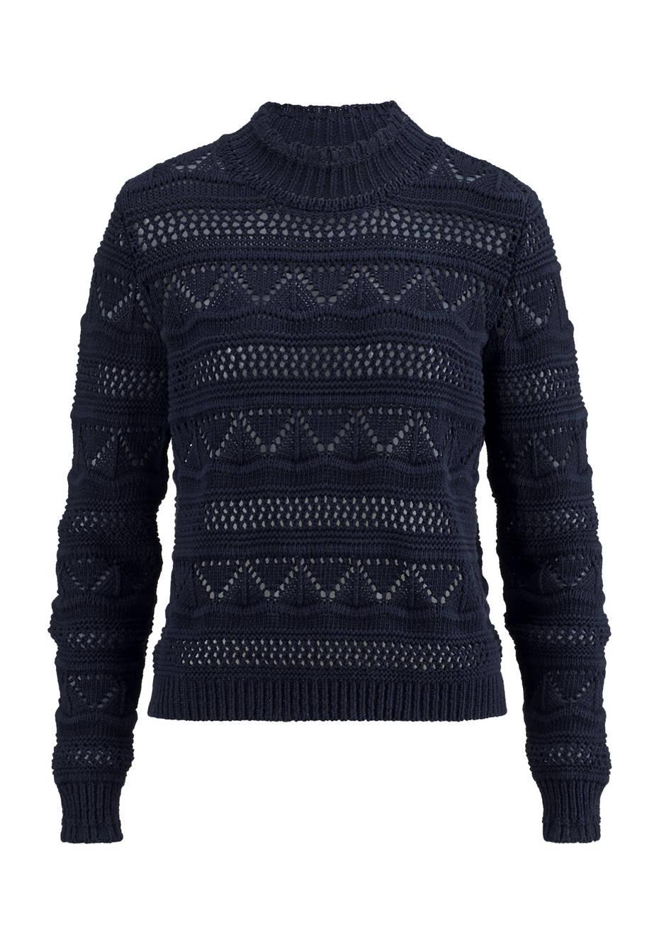 Ajour-Pullover aus reiner Bio-Baumwolle
