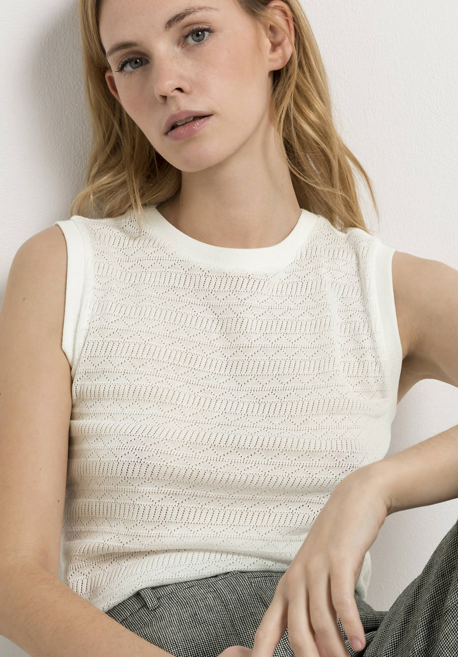 Ajour top made from pure organic cotton