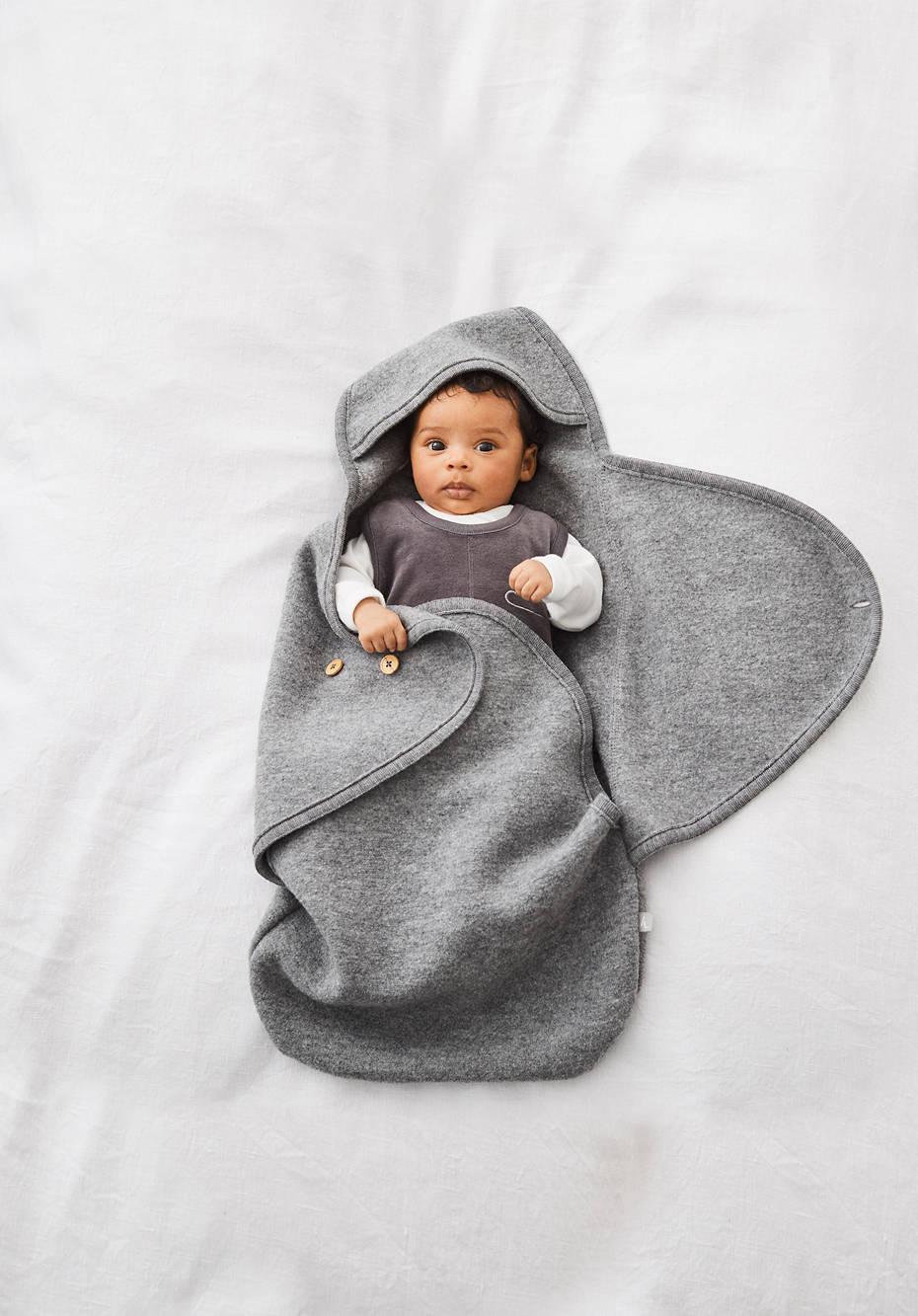 Baby Walksack aus reiner Bio-Merinowolle