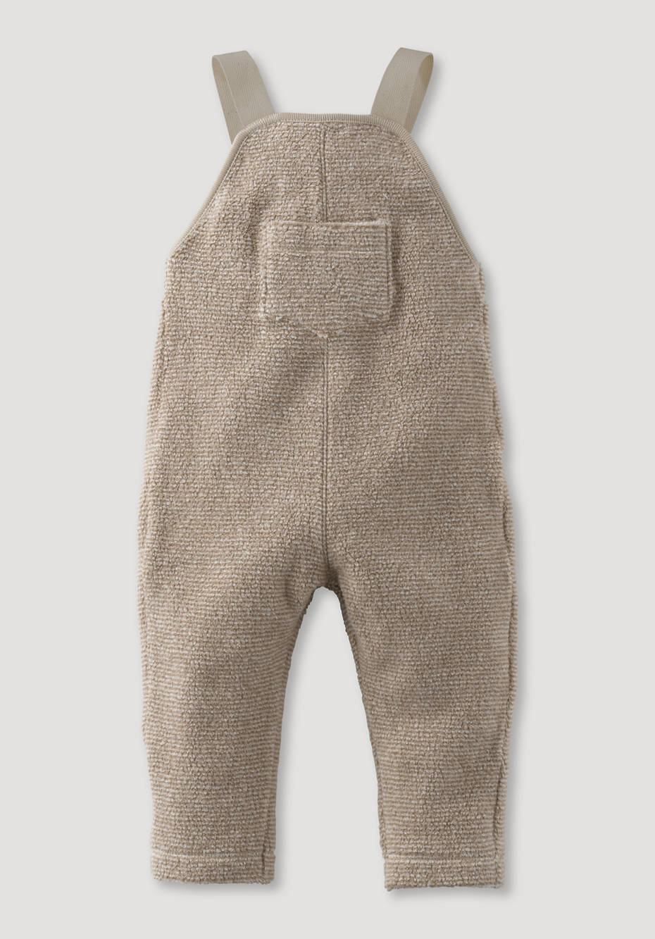 Banded fleece dungarees made of pure organic cotton