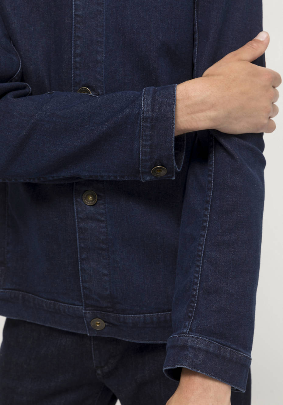 Bed recycling denim jacket made from organic denim