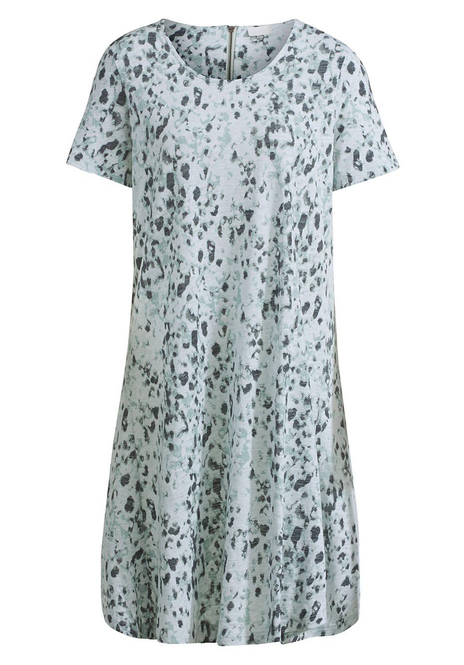 Bedrucktes Jersey-Kleid aus reiner Bio-Baumwolle