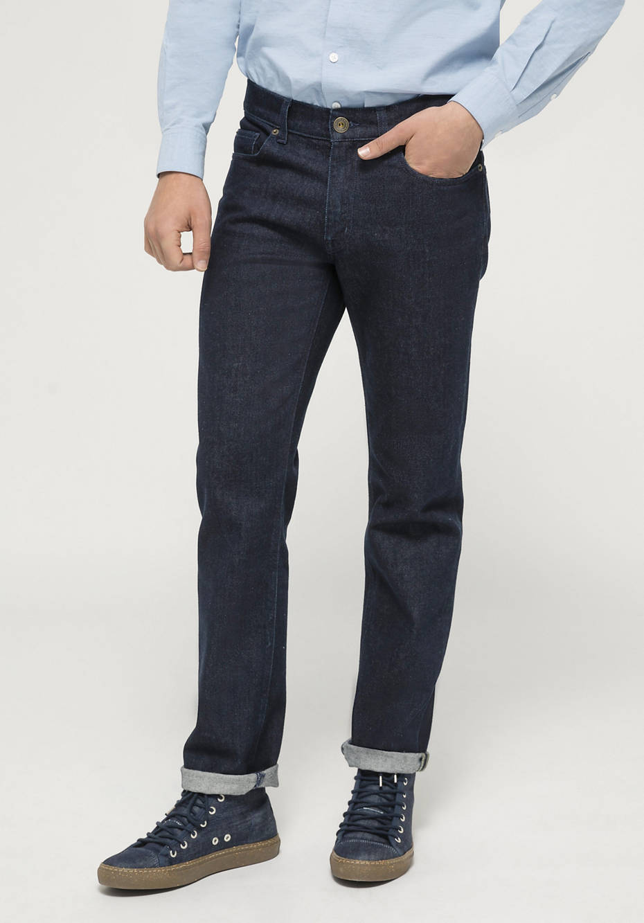 Ben straight fit jeans made of organic denim with virgin wool