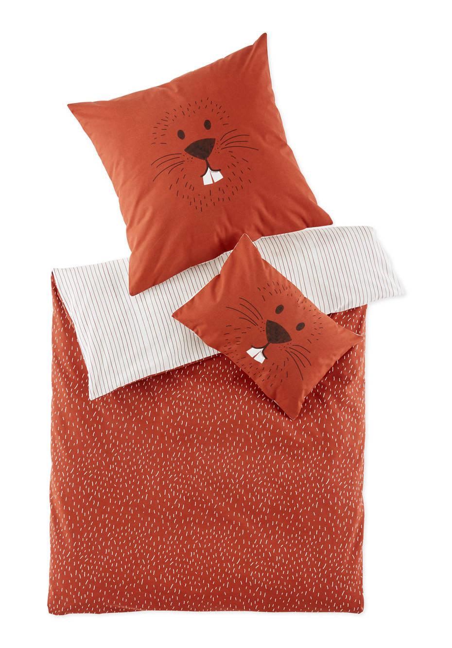 Biber-Bettwäsche für Kinder aus reiner Bio-Baumwolle