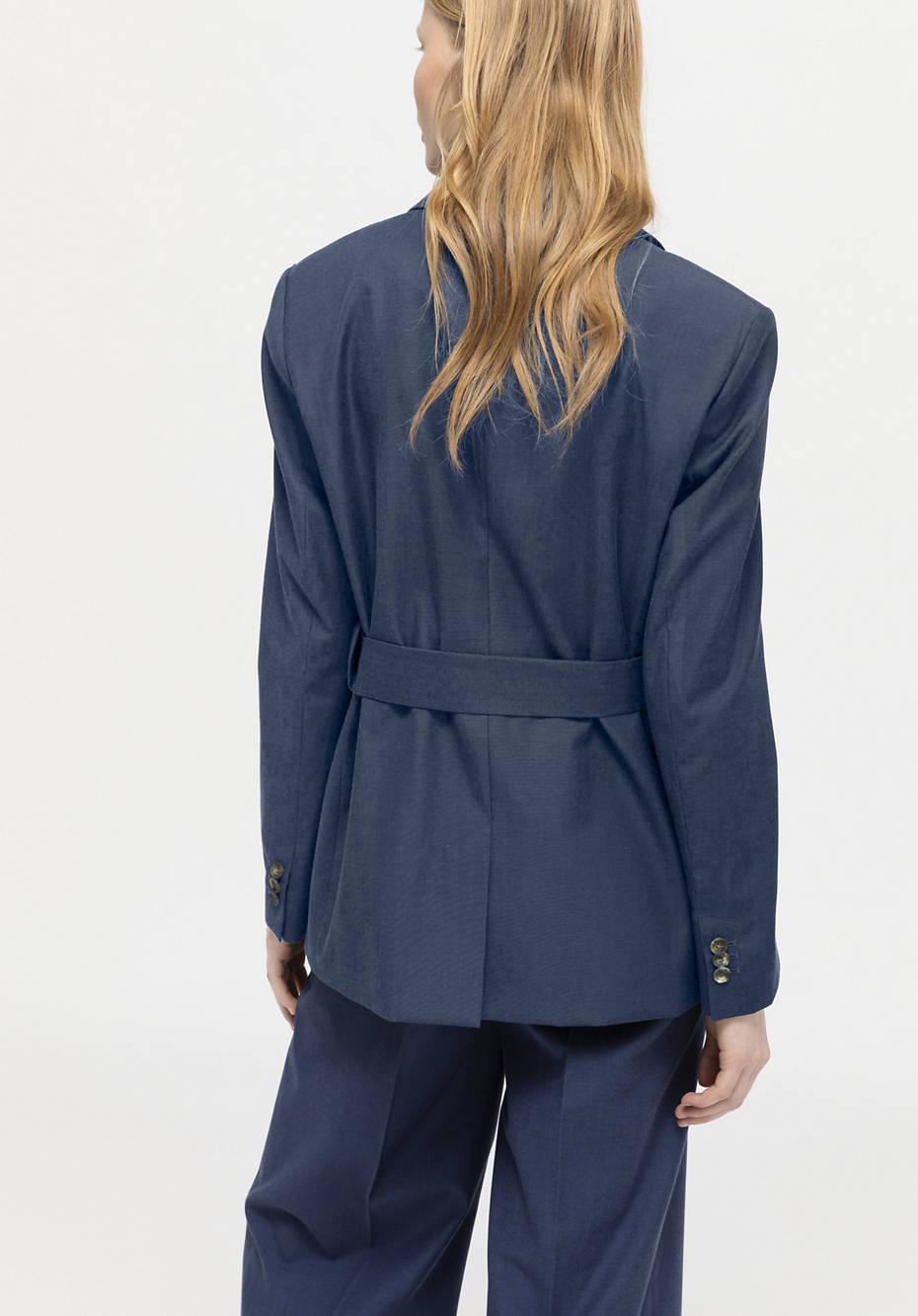 Blazer made of organic merino wool with organic cotton