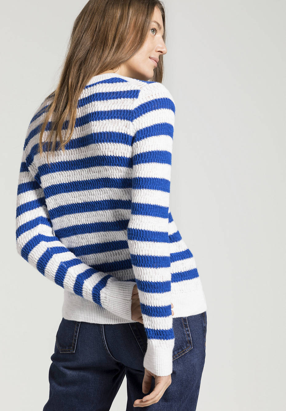 Blockstreifen-Pullover aus reiner Bio-Baumwolle