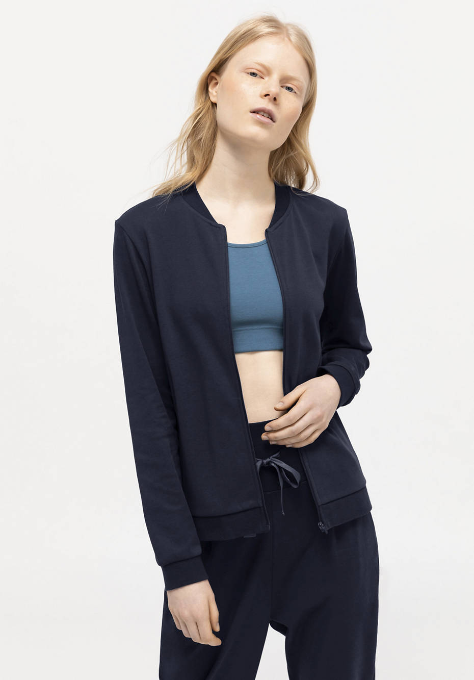 Blouson-Jacke aus reiner Bio-Baumwolle