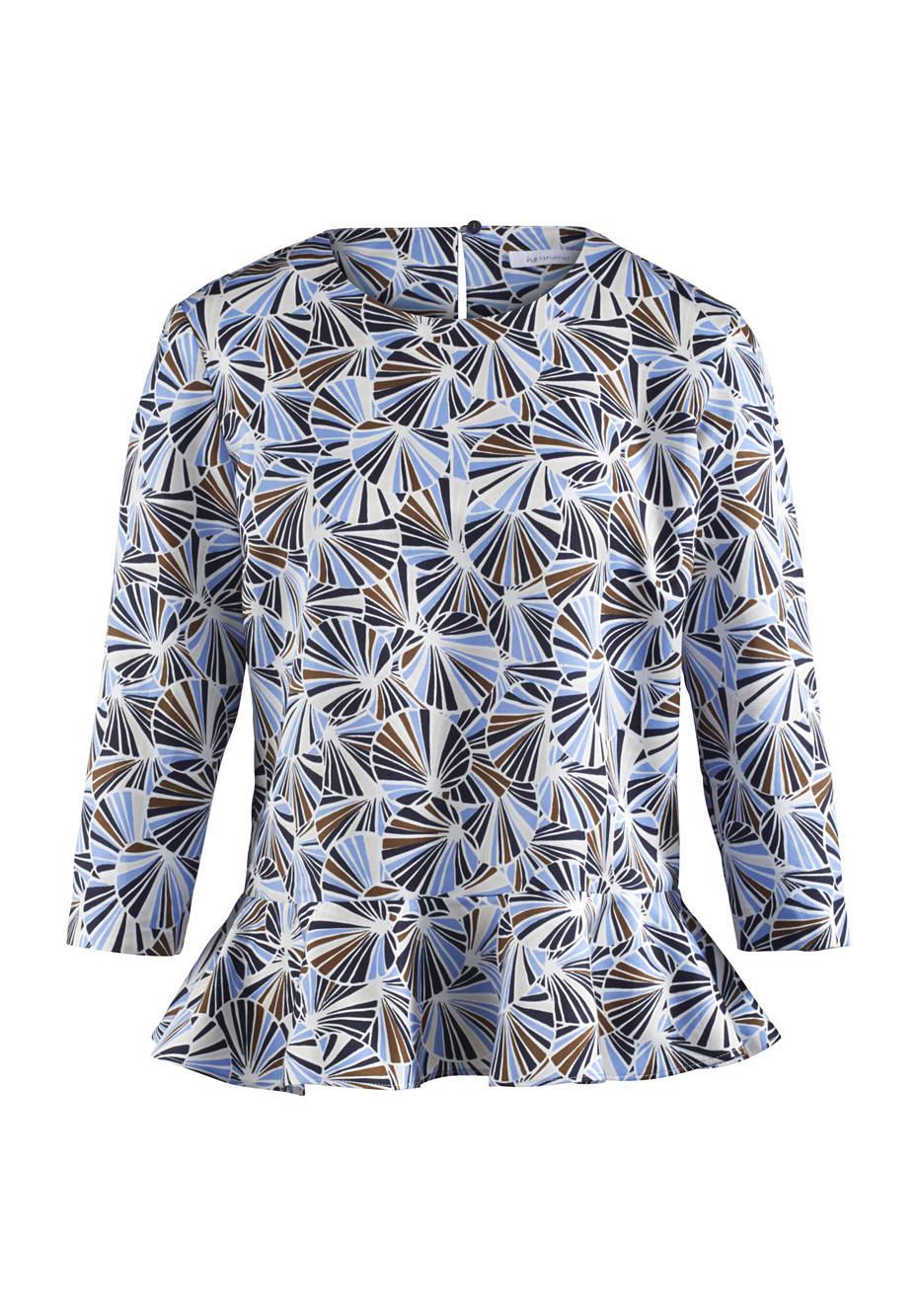 Bluse aus Baumwolle mit Hanf und Seide