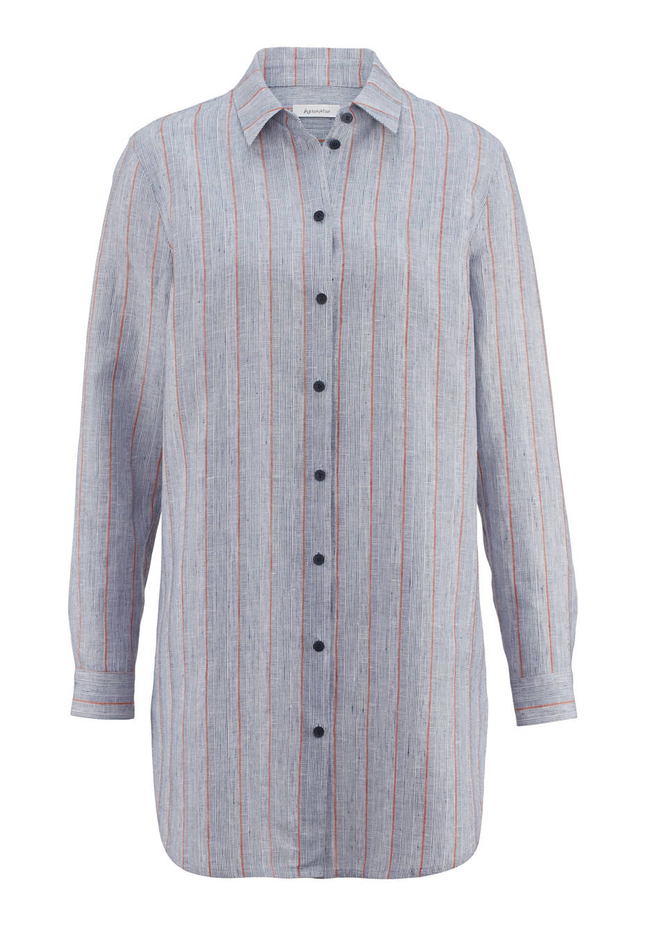 Bluse aus Leinen mit Bio-Baumwolle