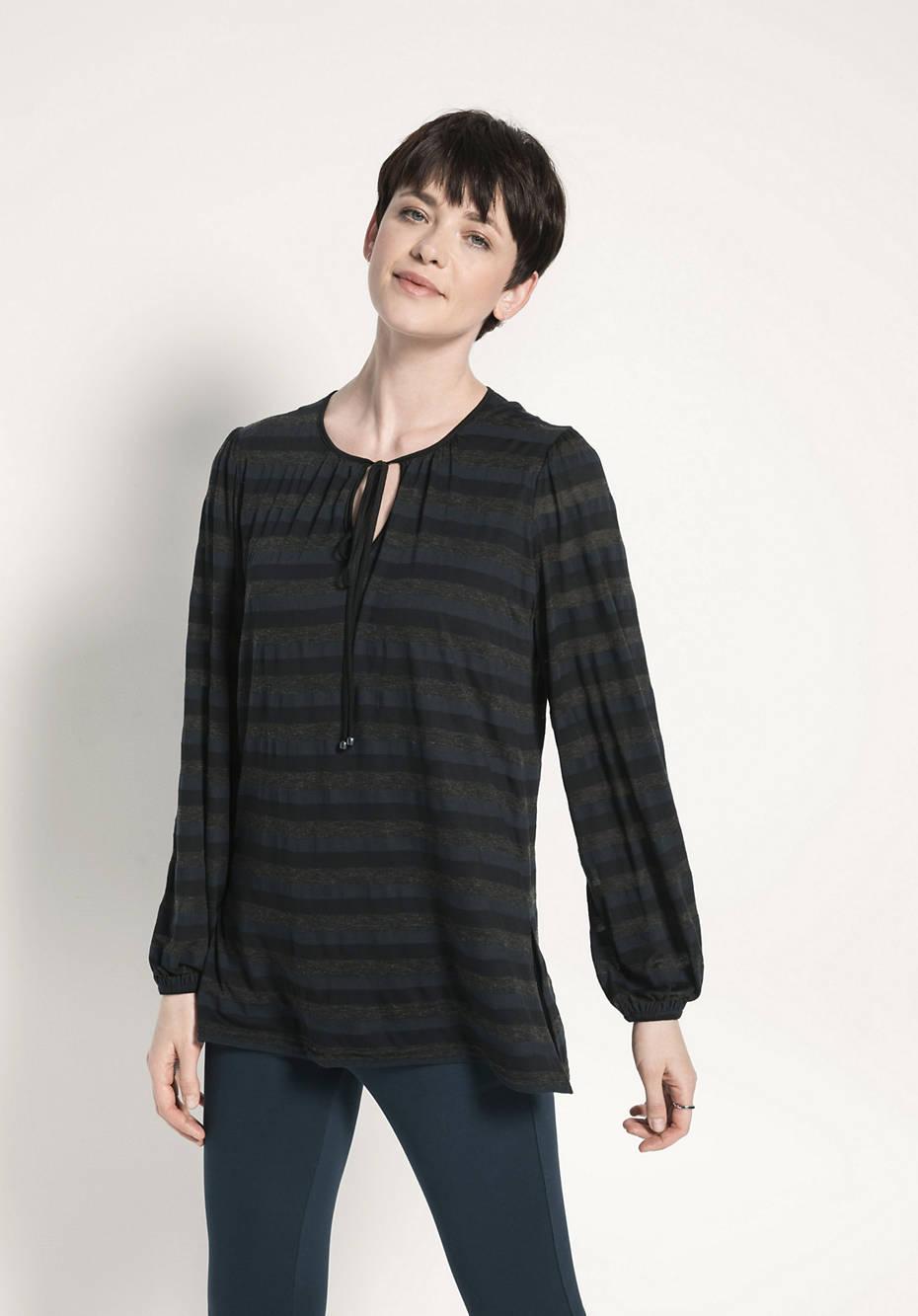 Bluse aus Modal mit Bio-Baumwolle und Schurwolle