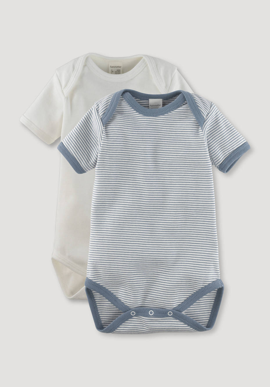 Body set of 2 made of pure organic cotton