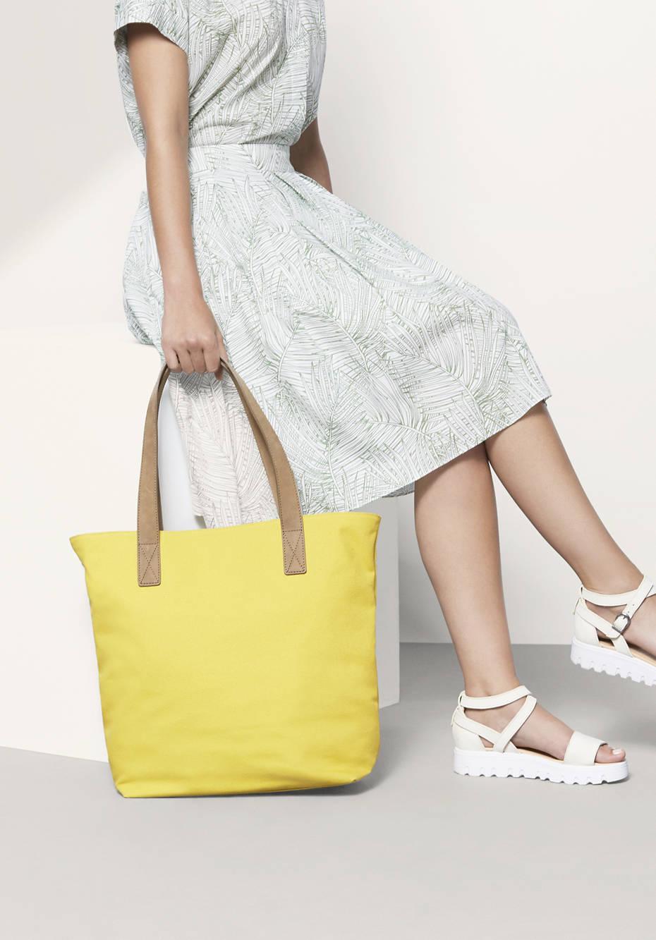 Canvas-Tasche aus Bio-Baumwolle und Leder
