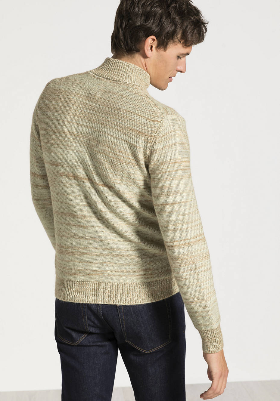 Cardigan made of alpaca and organic cotton