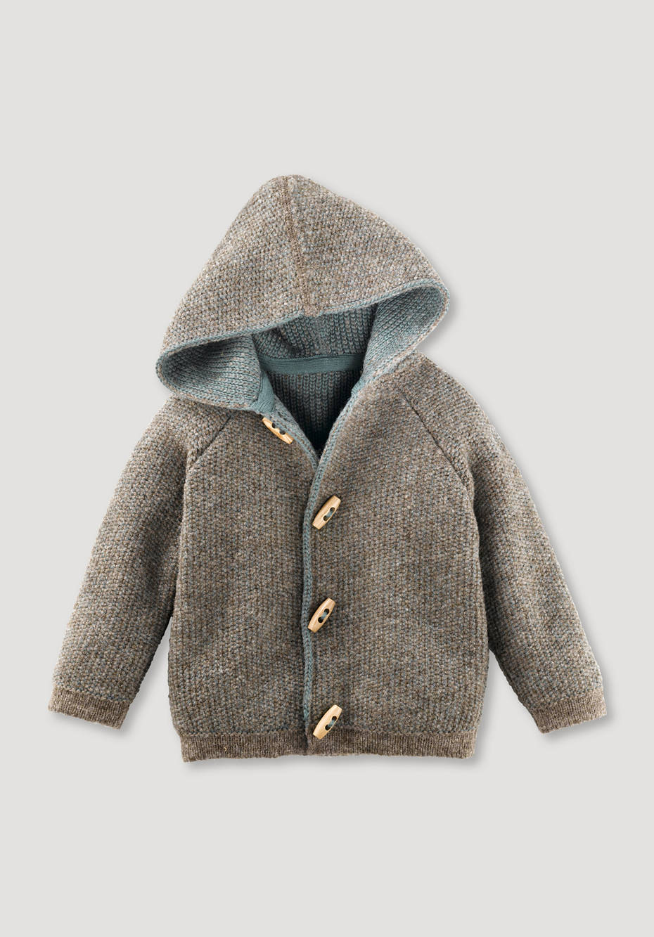Cardigan made of new wool and cotton