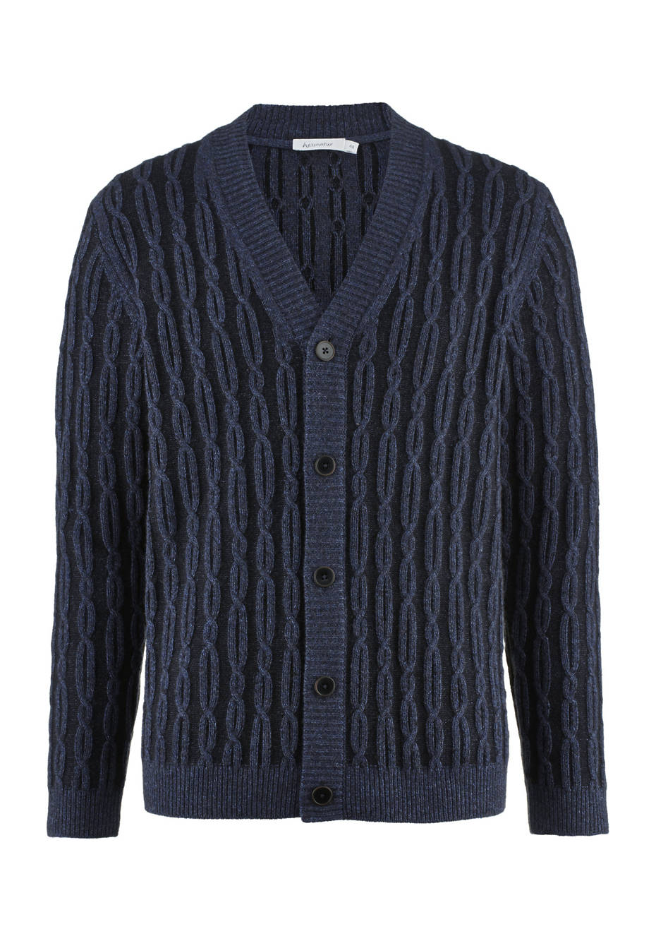 Cardigan made of organic cotton, virgin wool and yak wool