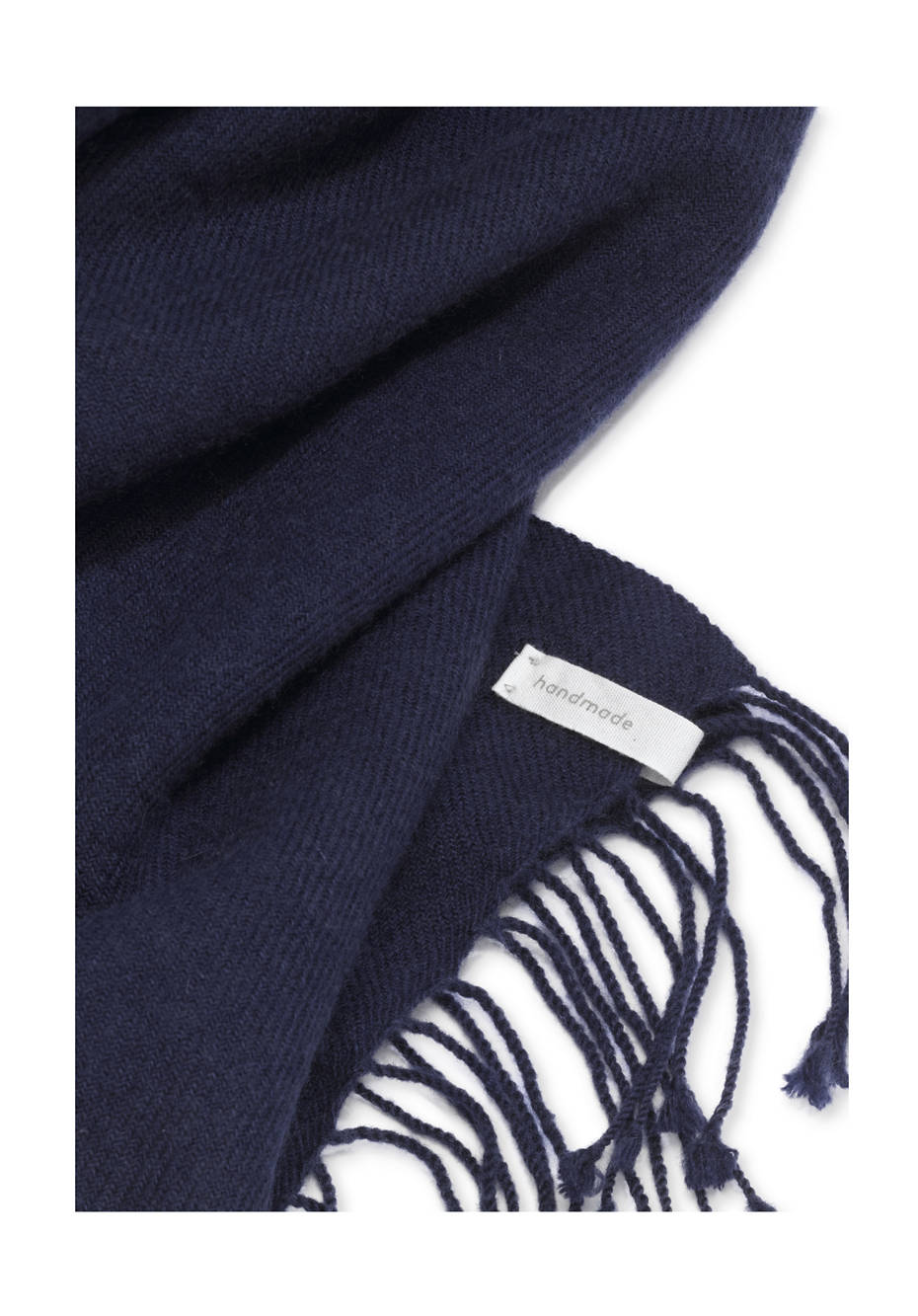 Cashmere scarf with virgin wool