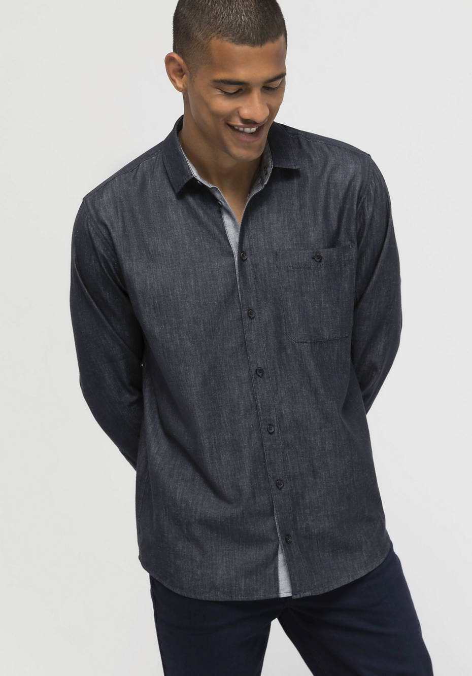 Comfort Fit shirt made of organic cotton with hemp and yak