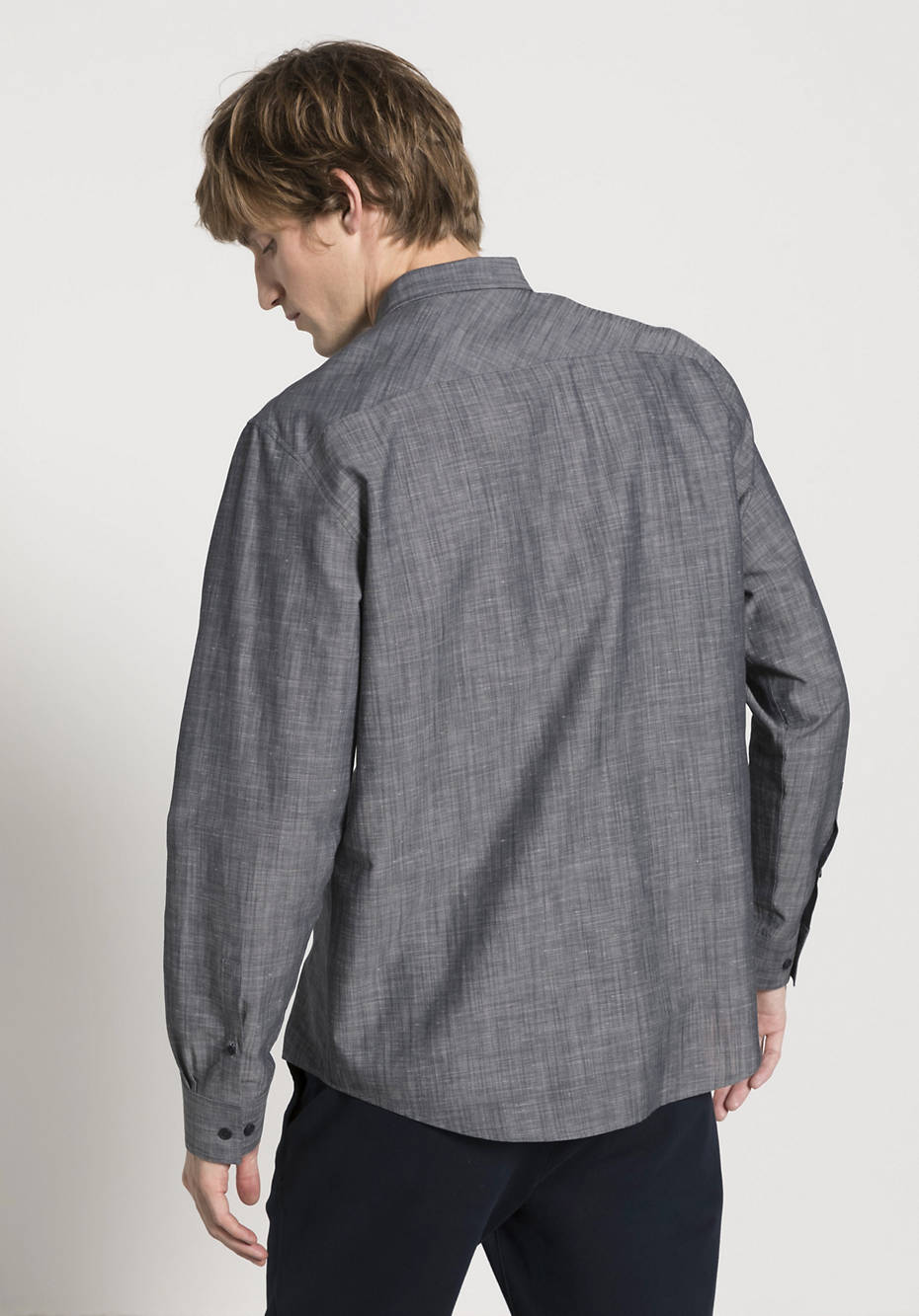 Comfort Fit shirt made of organic cotton with linen