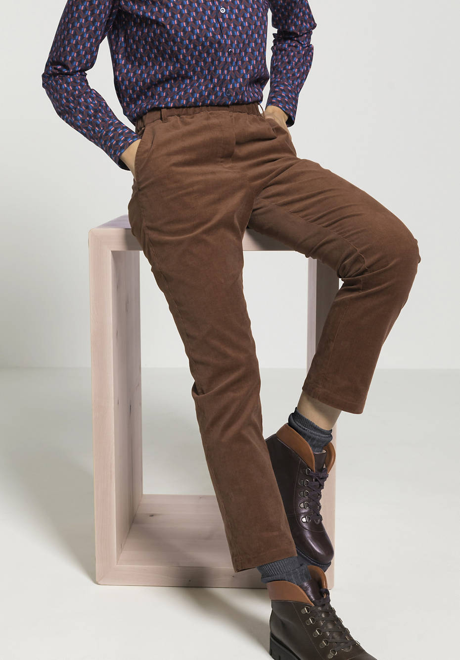 Cord Hose aus Bio-Baumwolle mit Hanf