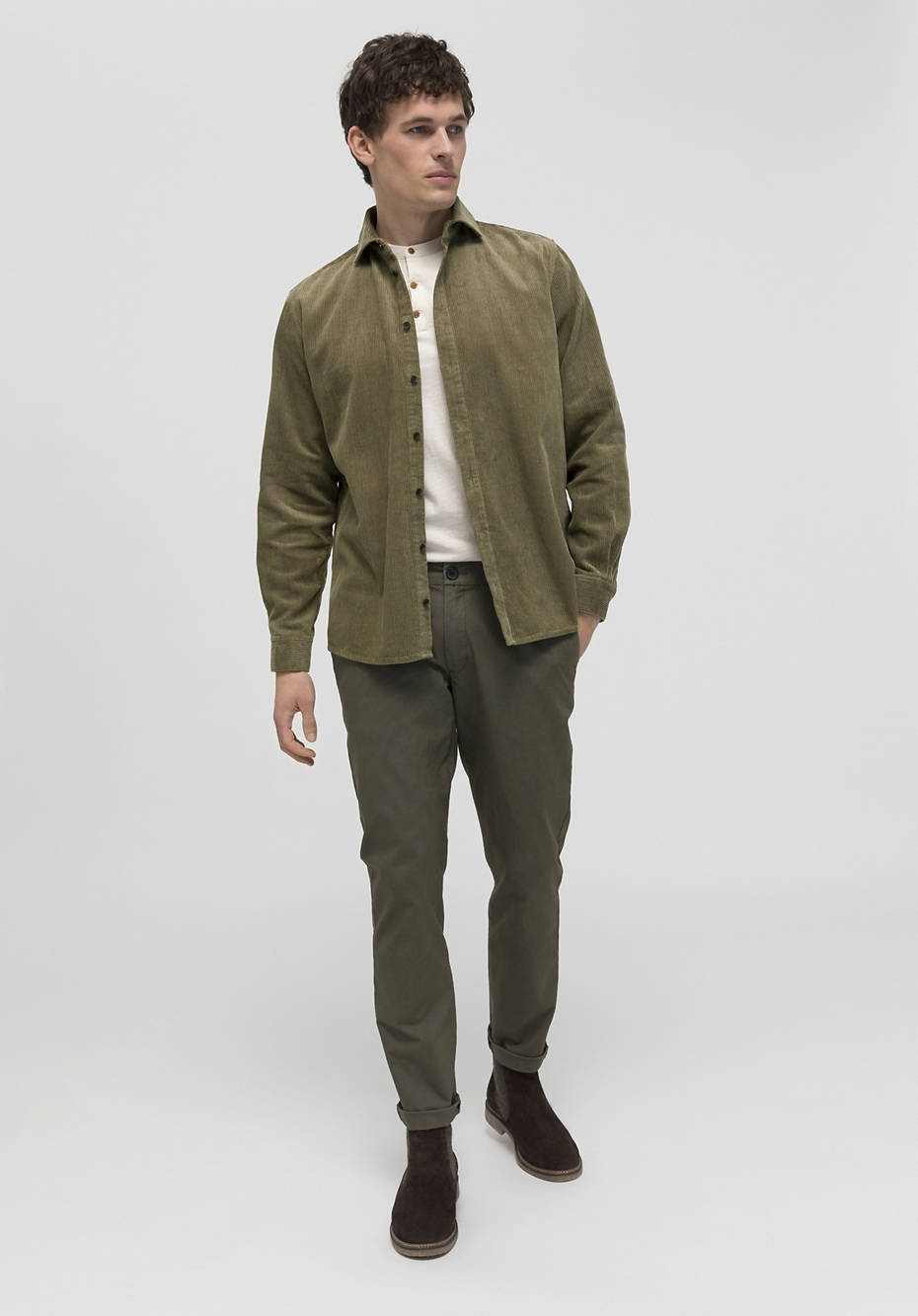 Cord-Overshirt Comfort Fit aus Hanf mit Bio-Baumwolle