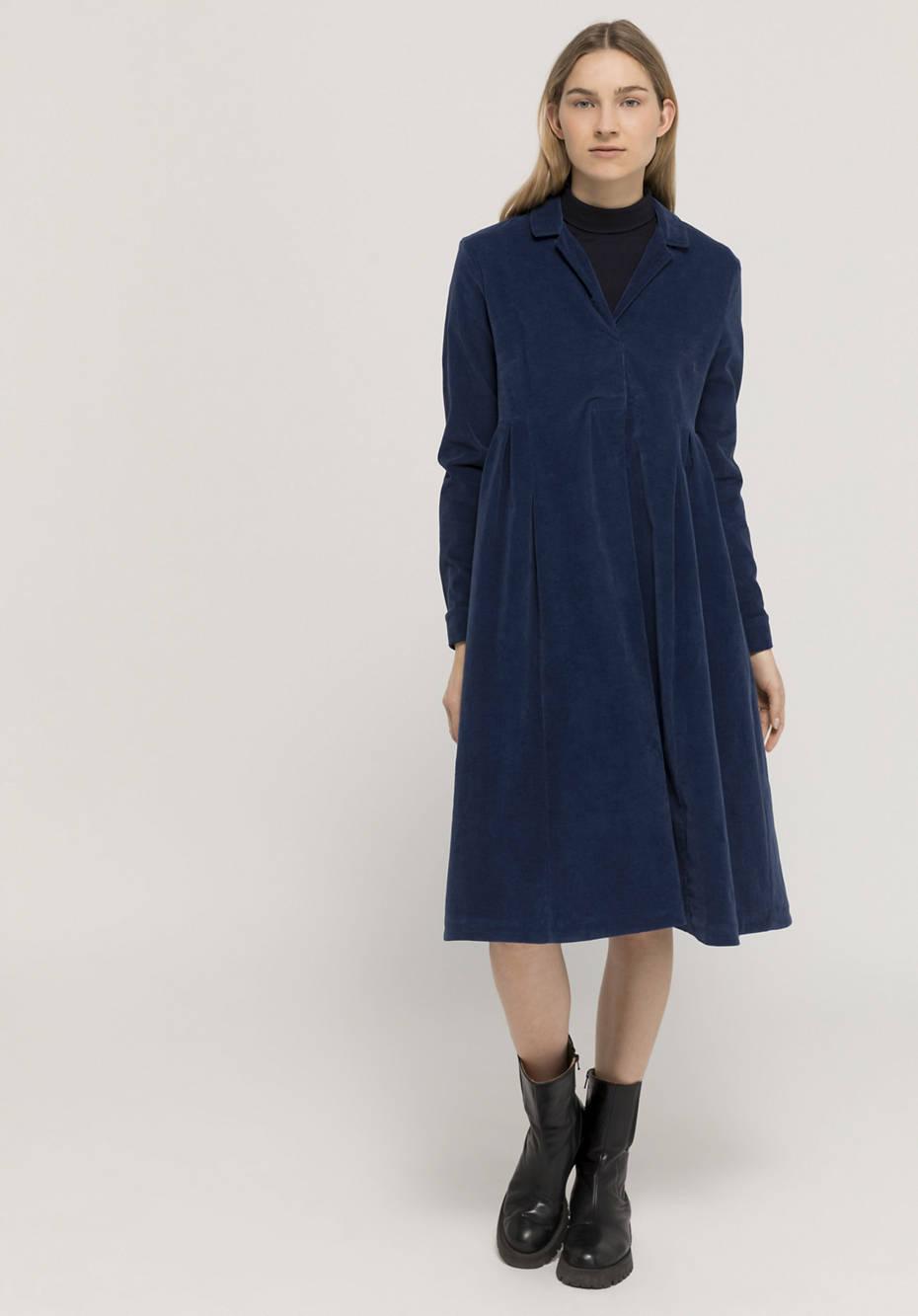 Cord dress made of organic cotton with hemp