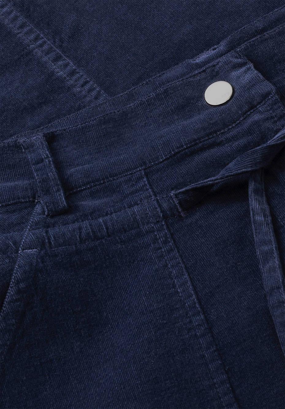 Cord skirt made of organic cotton with hemp
